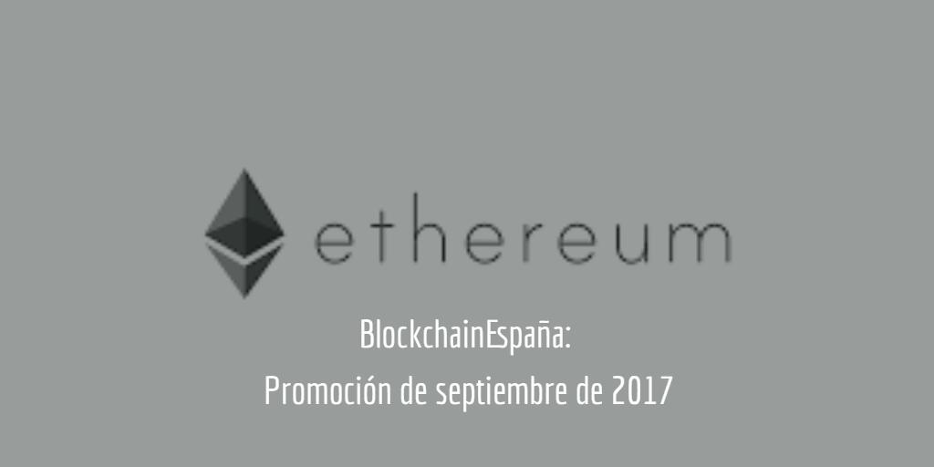 Blockchain España sept 2017