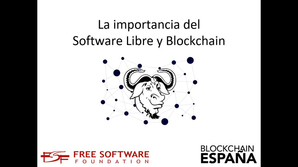 Imagen software libre y blockchain